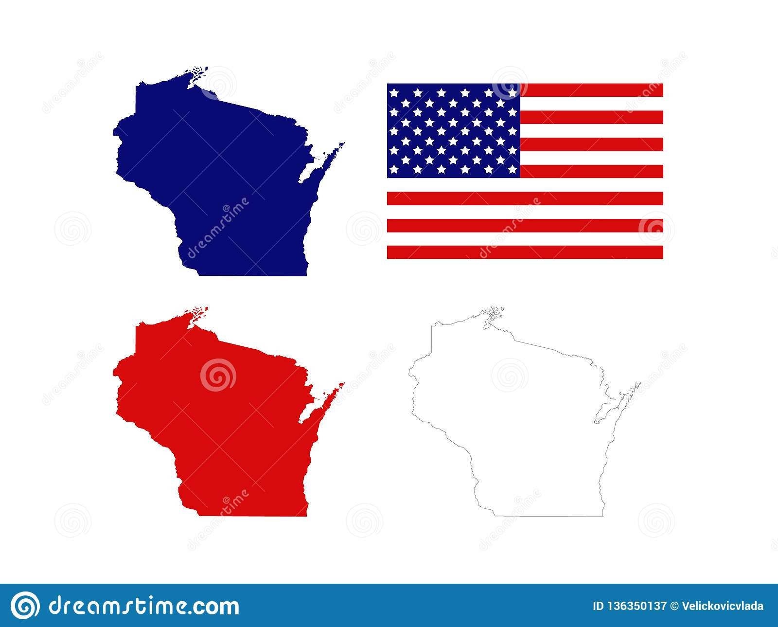 Wisconsin Maps With USA Flag - U.S. State Located In The ... on map of central plains states, map of west usa states, map of central new jersey counties, map of north central states, map of usa states only, map of the usa states, map of south central usa, map of south central us, map of central american states, map of southeastern usa states, map of kansas online, map of north central vermont, map of western usa states, map of north central usa, the central states, map of central nevada, big map of usa states, map of north central u s, map of lower usa states, central us states,