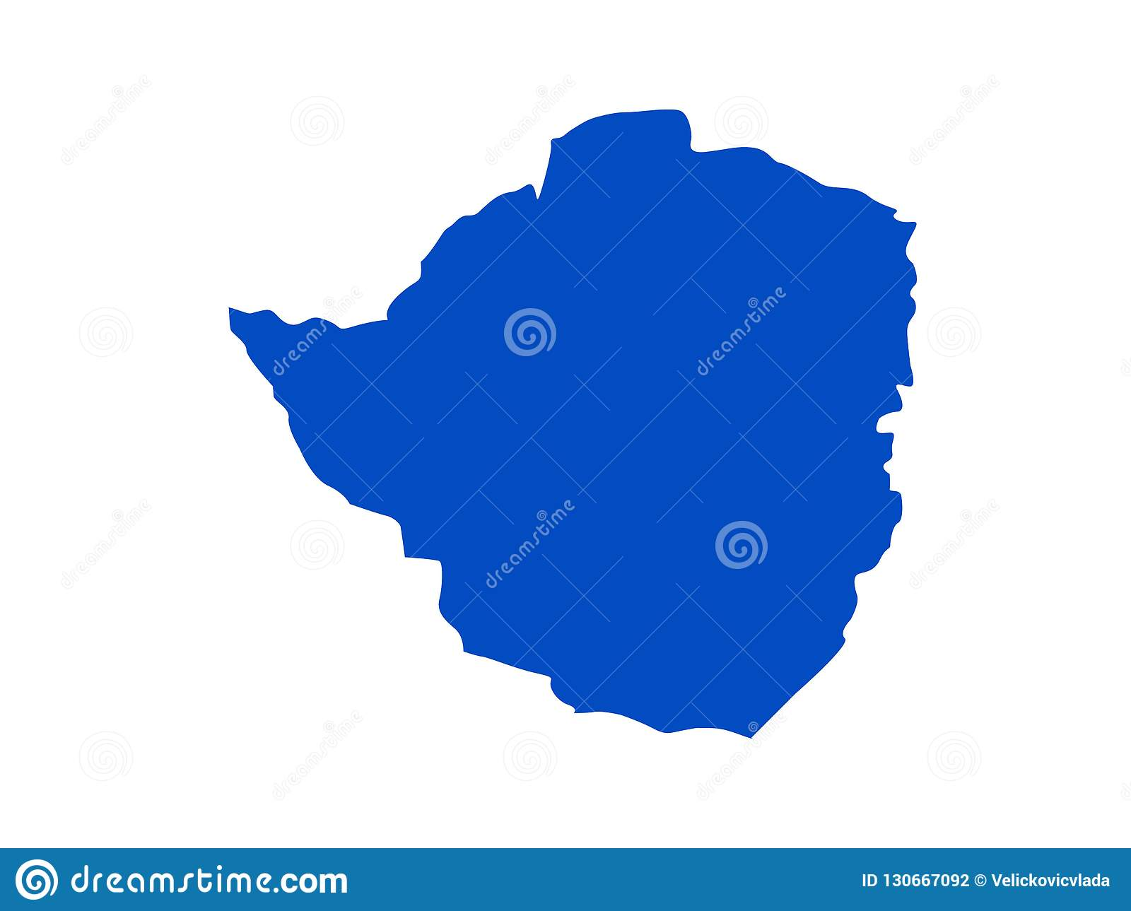 Map Of South Africa And Zimbabwe.Zimbabwe Map Country In Southern Africa Stock Vector