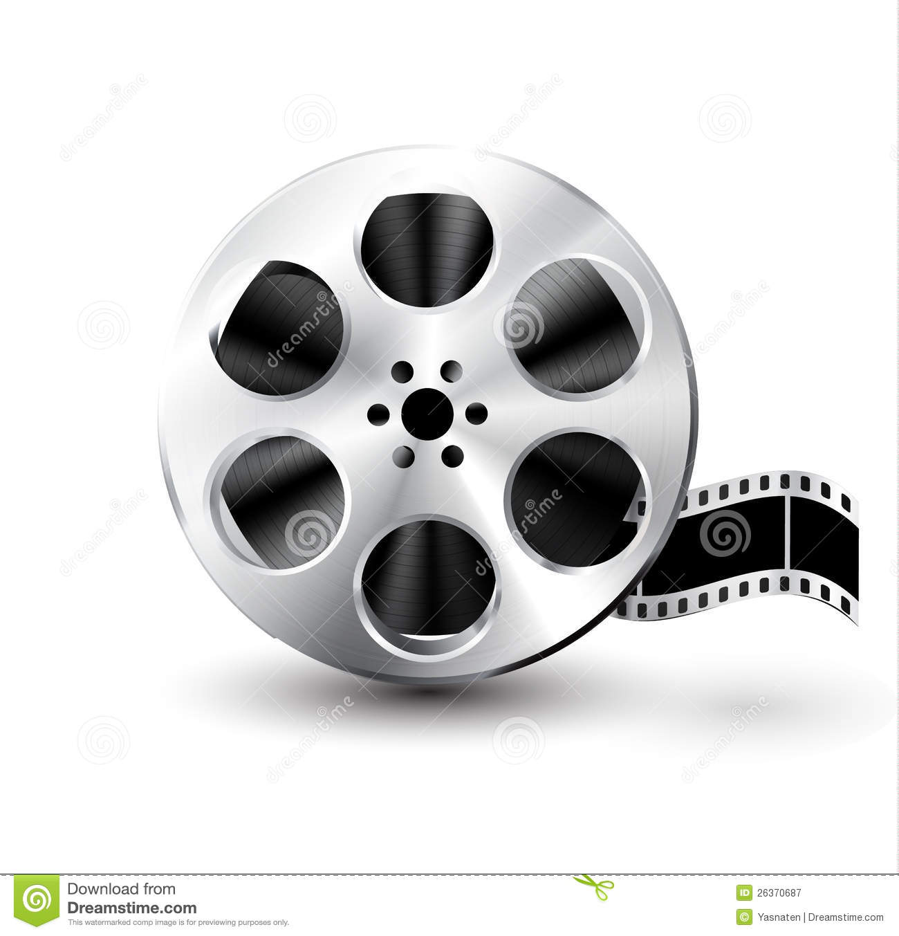 Vector Film Reel Stock Illustration Illustration Of