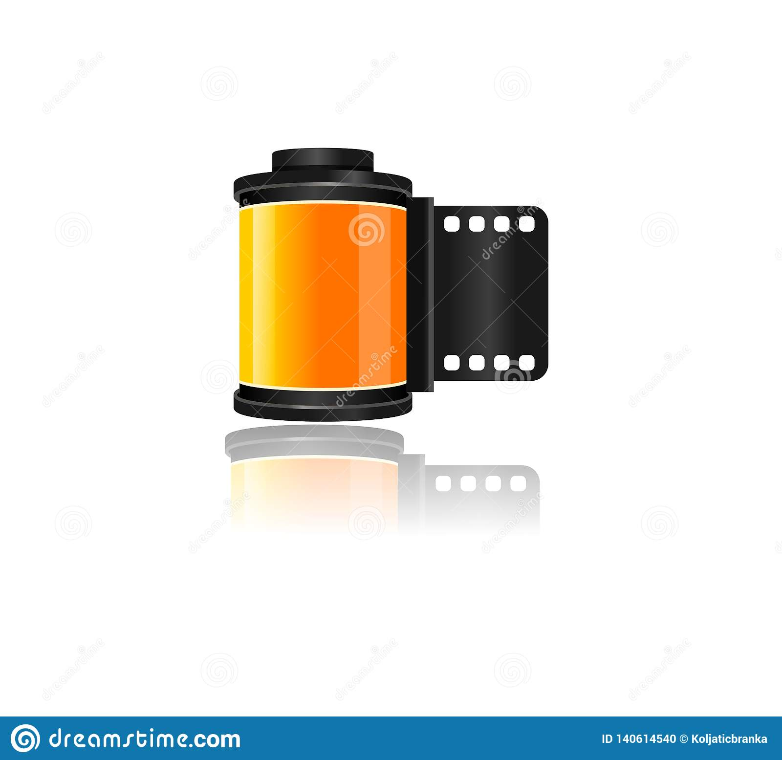 Vector Film Roll Graphic