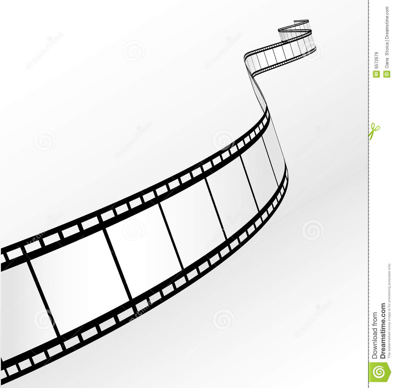 Vector Blank Film Strip Royalty Free Stock Photography - Image ...