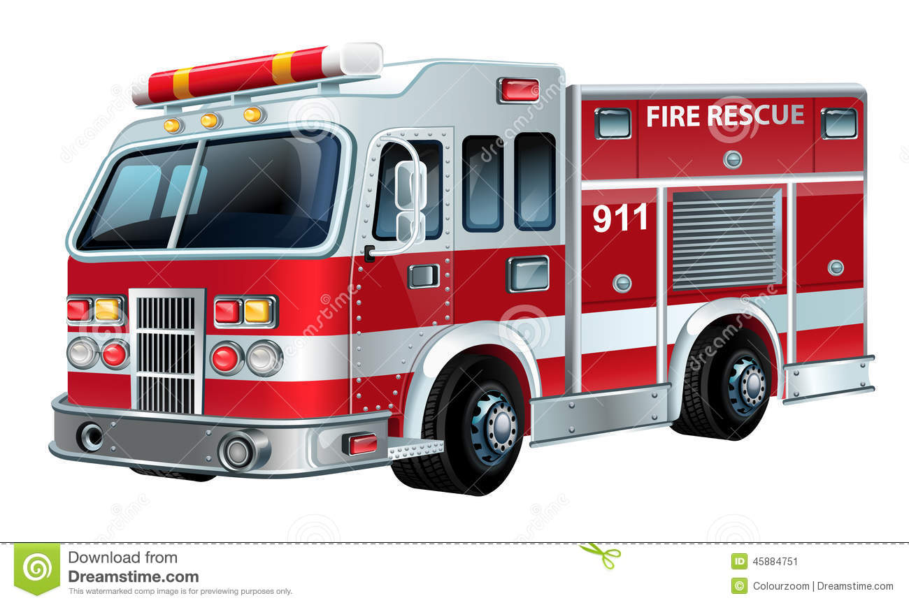 Vector Firetruck stock vector. Illustration of available ...