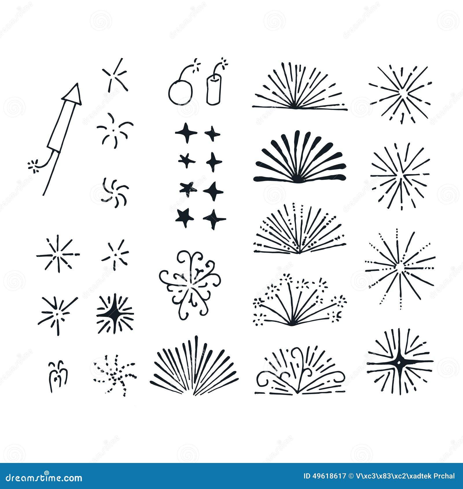 Vector Fireworks Elements Stock Illustration Image 49618617