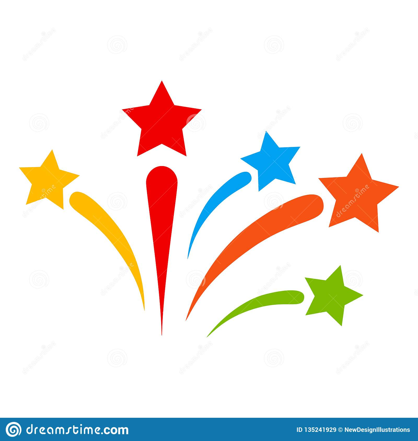 Vector Fireworks Icon Illustration Stock Vector ...Fireworks Icon