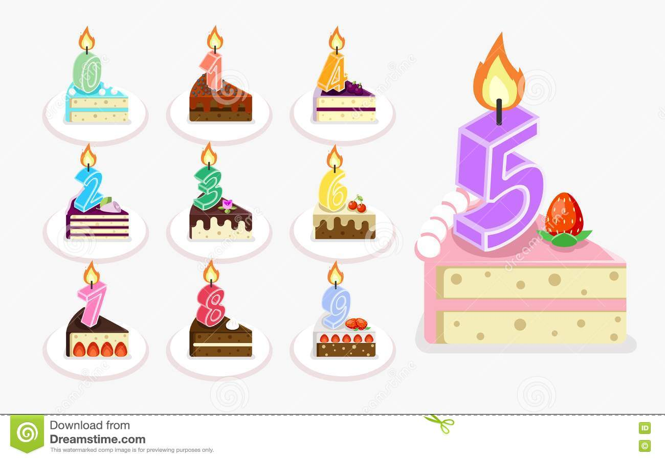 Fire Candle For Birthday Cake