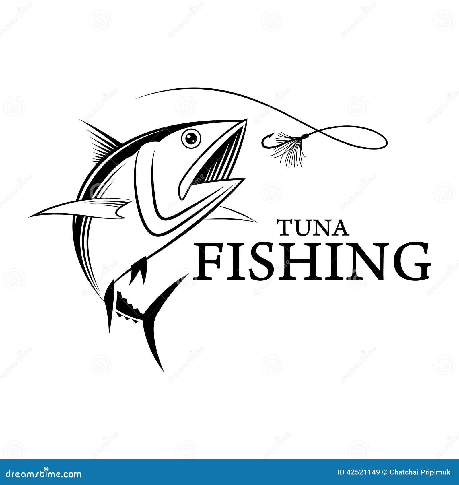 vector fishing tuna stock vector illustration of fishing 42521149