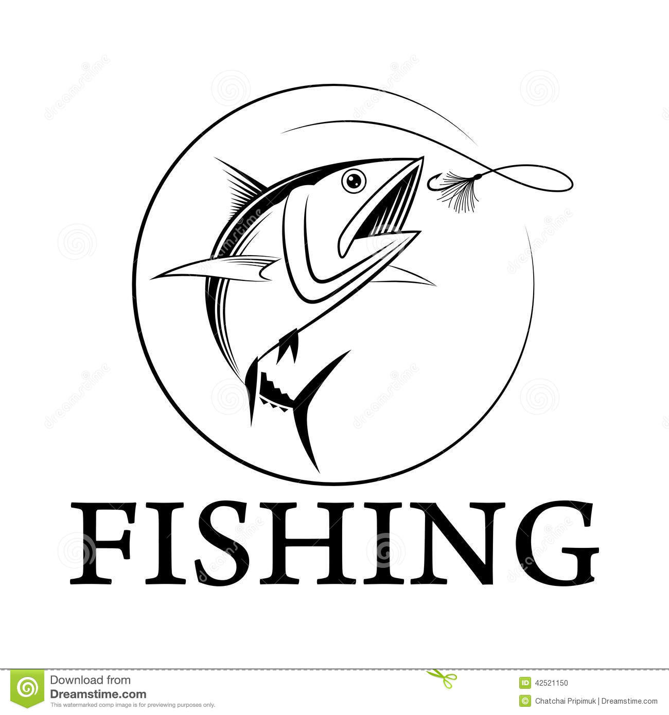 Vector fishing tuna stock vector image 42521150 for Fishing times free