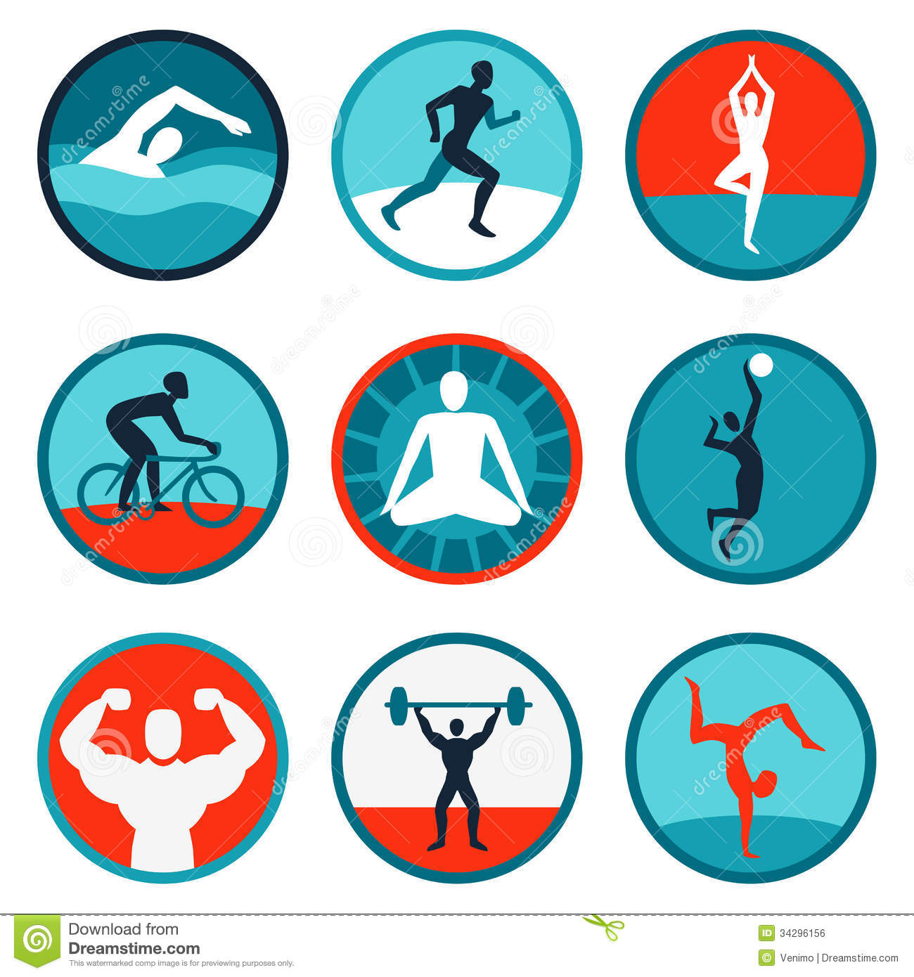 Vector Fitness Icons And Signs Royalty Free Stock Image ... C Flat Major Scale