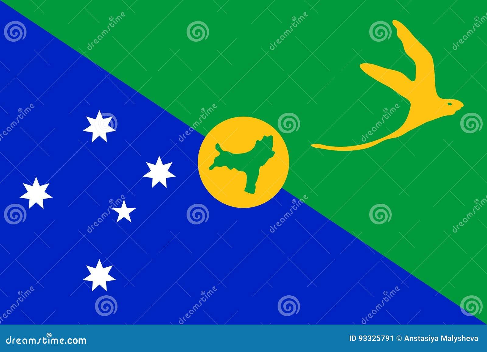 Vector Flag Of Christmas Island. Stock Vector - Illustration of christmasisland, country: 93325791