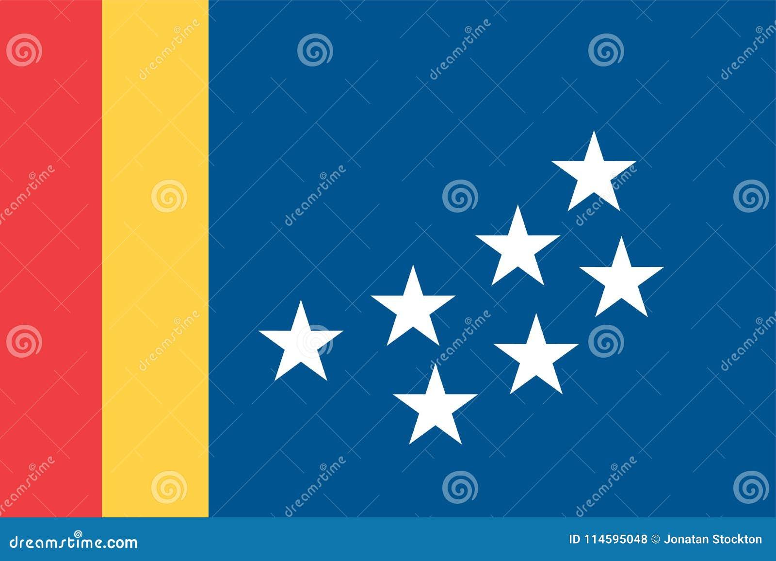 Vector Flag Of Durham City North Carolina Usa Stock Illustration