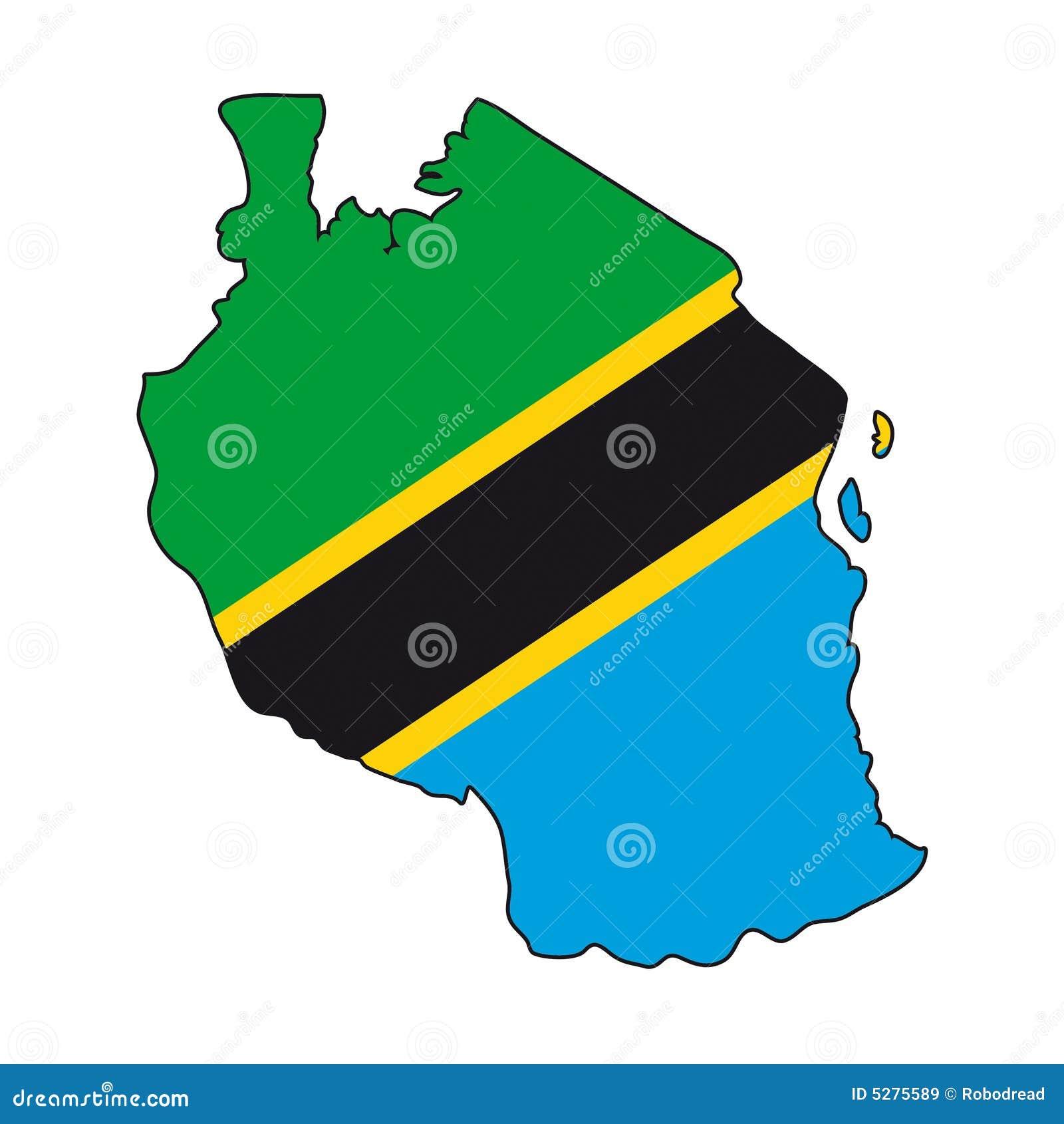 Vector Flag Tanzania Stock Vector Image Of Geographical - Tanzania map download