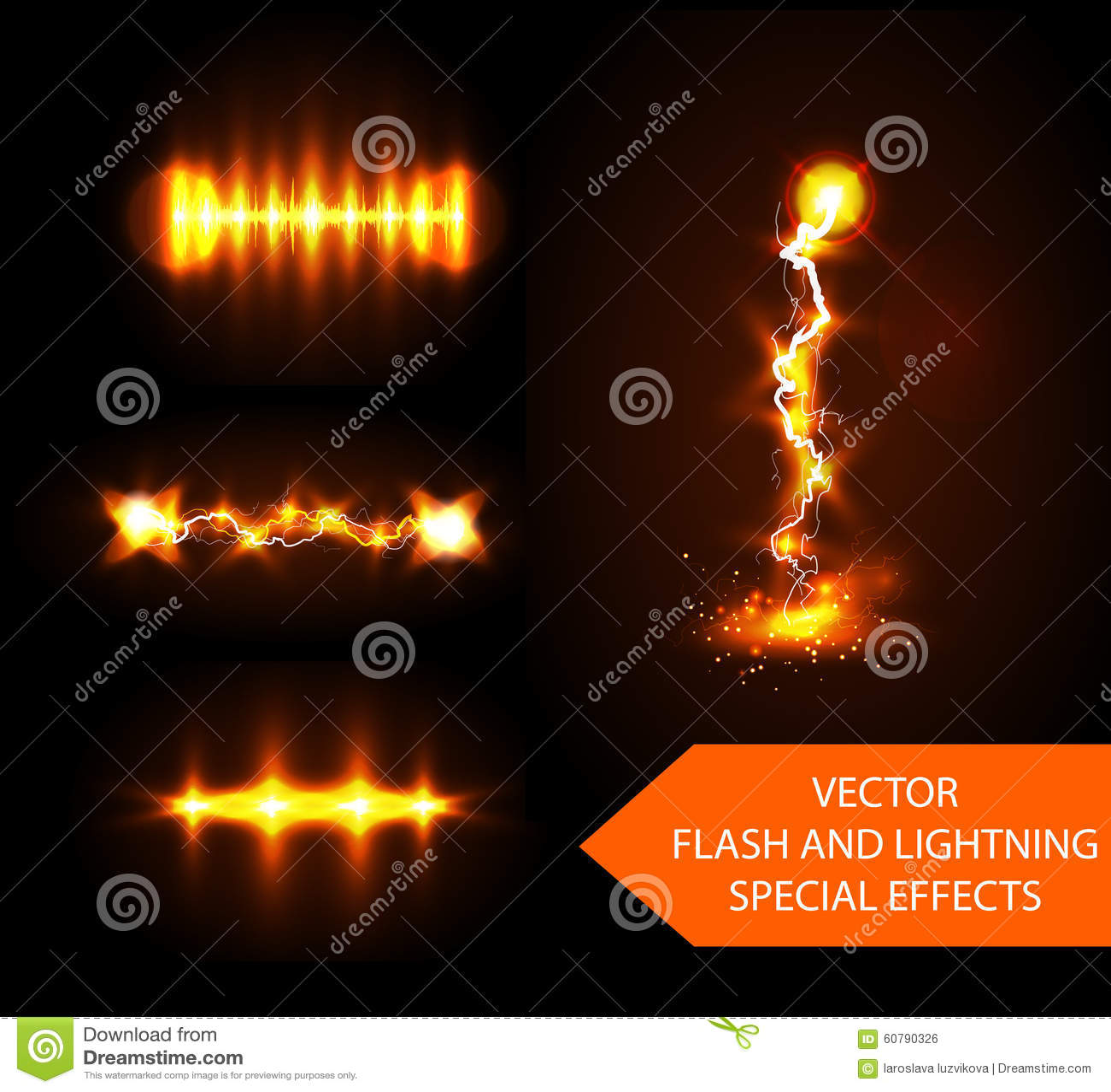 Vector flash effects stock vector  Illustration of bolt - 60790326