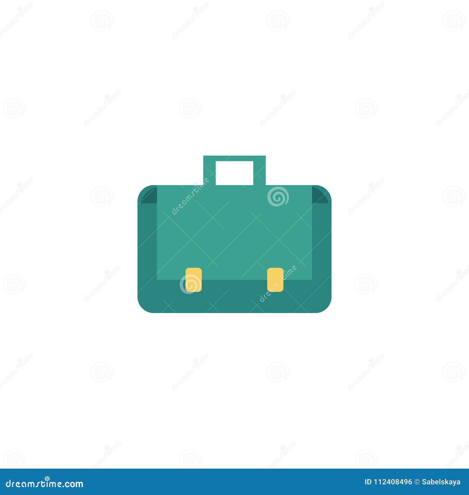 Vector flat briefcase business case bag icon stock vector download vector flat briefcase business case bag icon stock vector illustration of button colourmoves