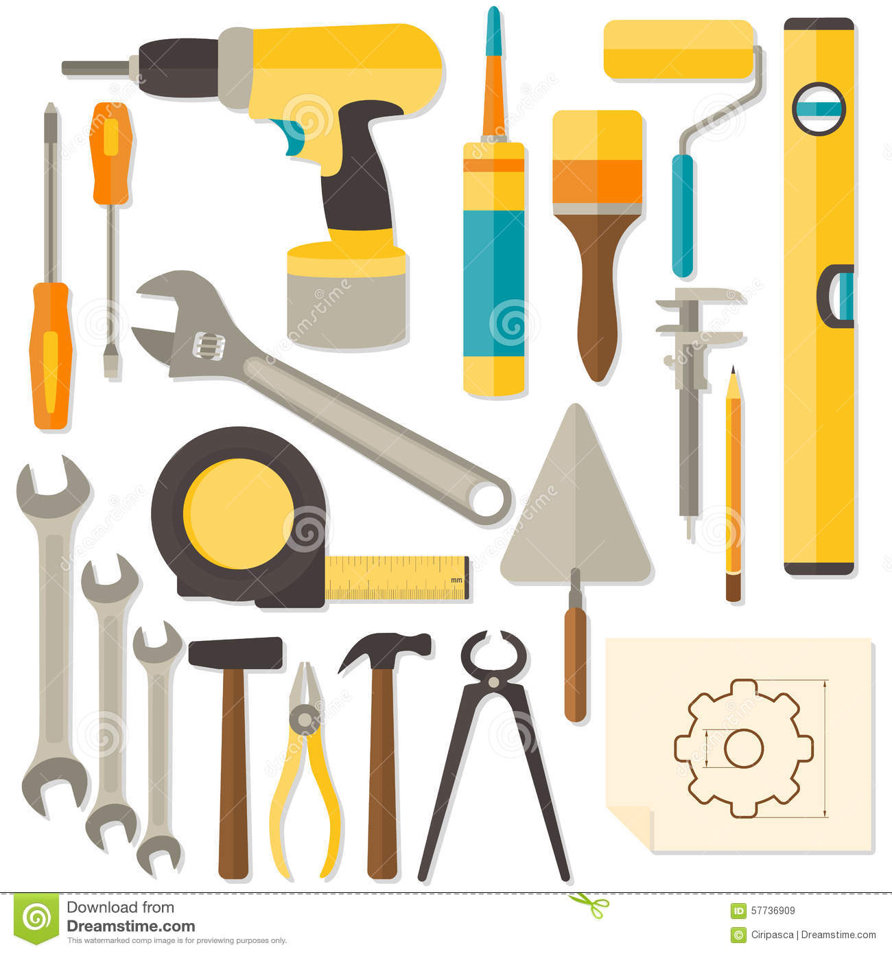 Home renovation and diy royalty free stock image for Home architecture tools