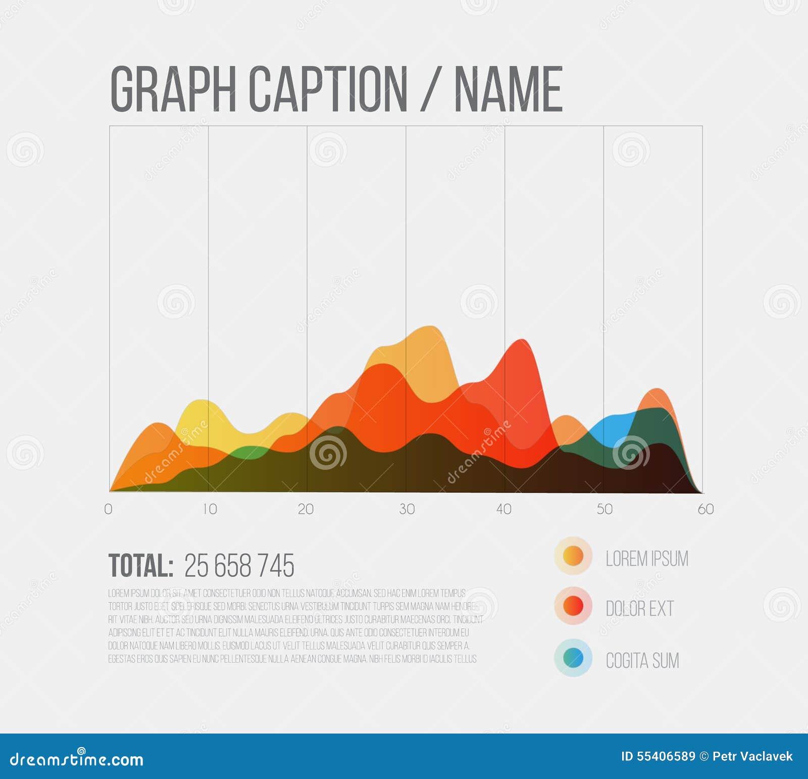 Vector Flat Design Infographics Statistics Graph Stock