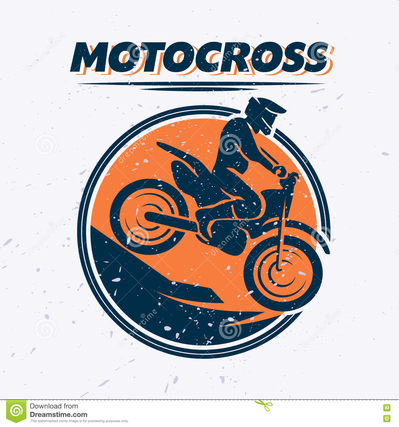vector flat dynamic extreme sport illustration with moto free style