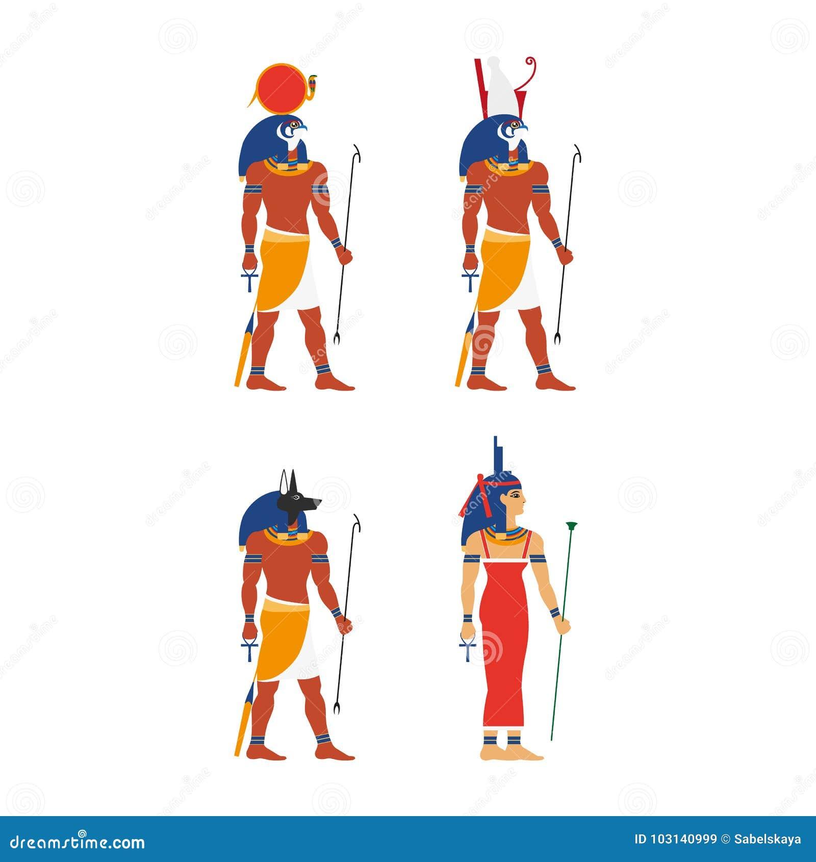 Vector flat egypt god set stock vector image of human 103140999 vector flat egypt god set buycottarizona