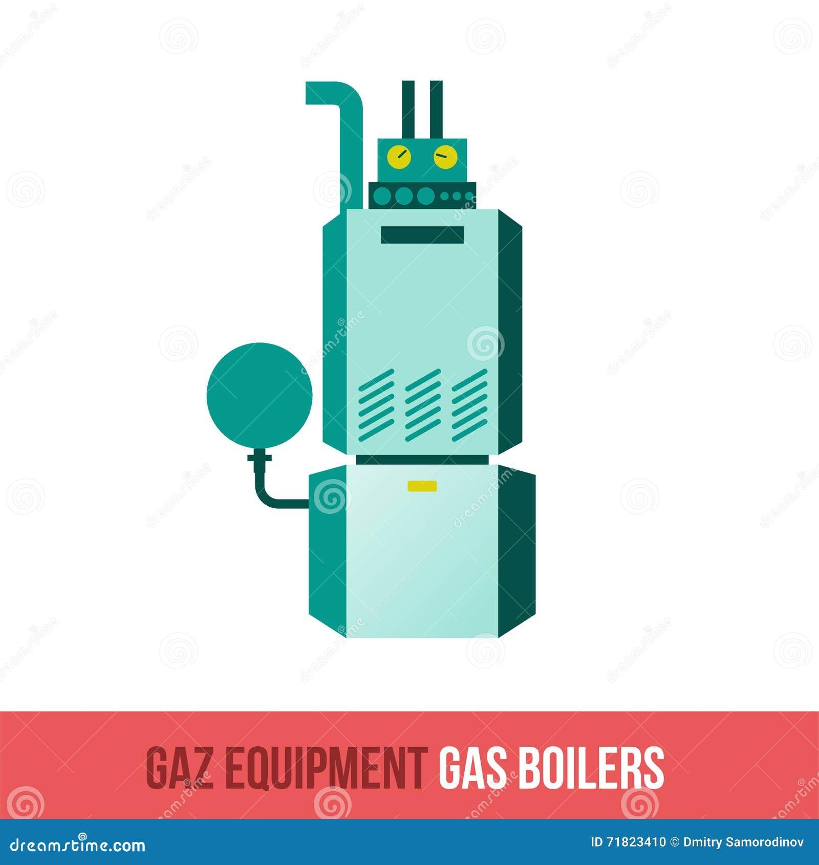 Vector Flat Icon Gas Equipment Stock Vector - Illustration of ...