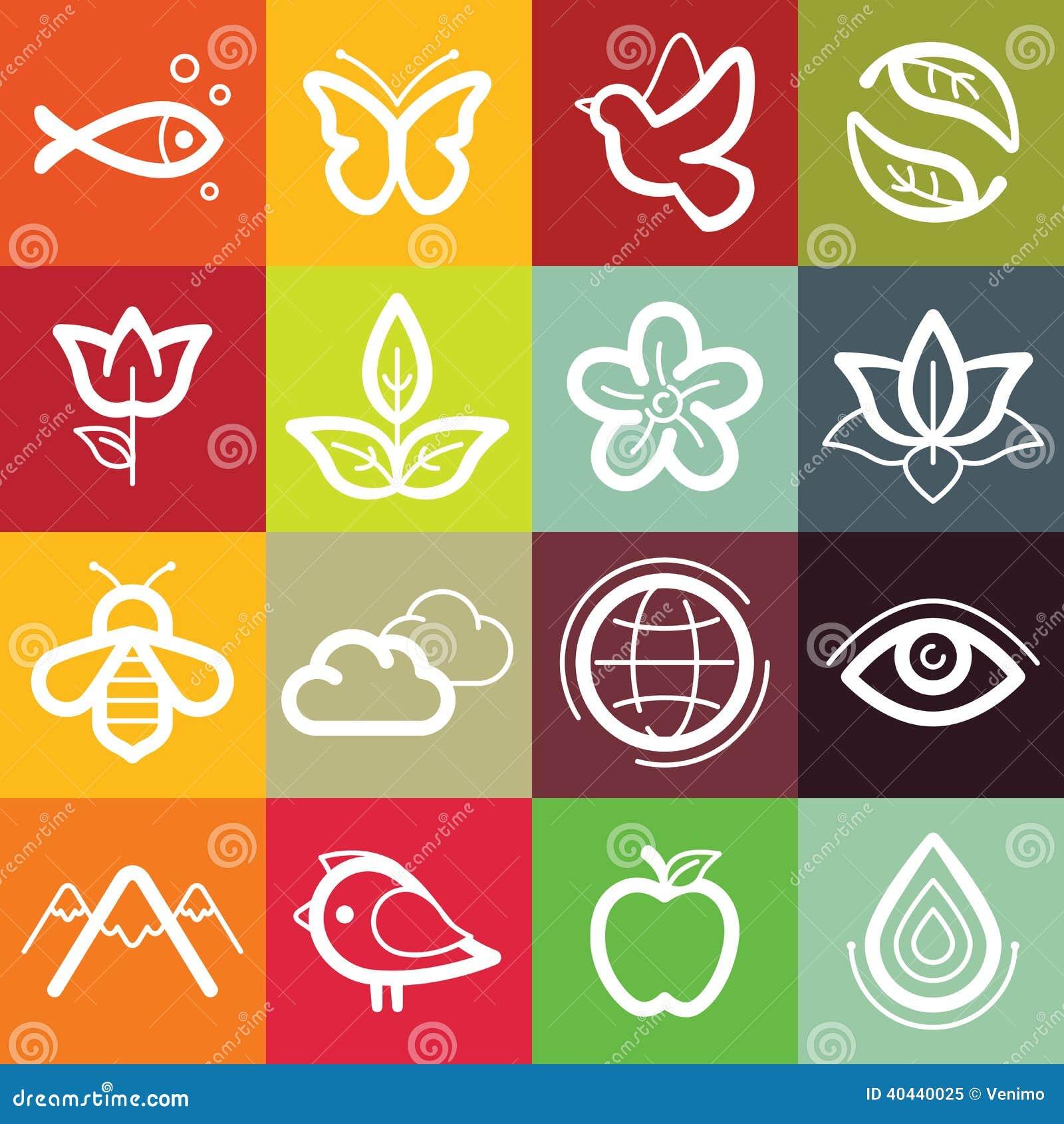 Ecology symbols set Vector  Free Download