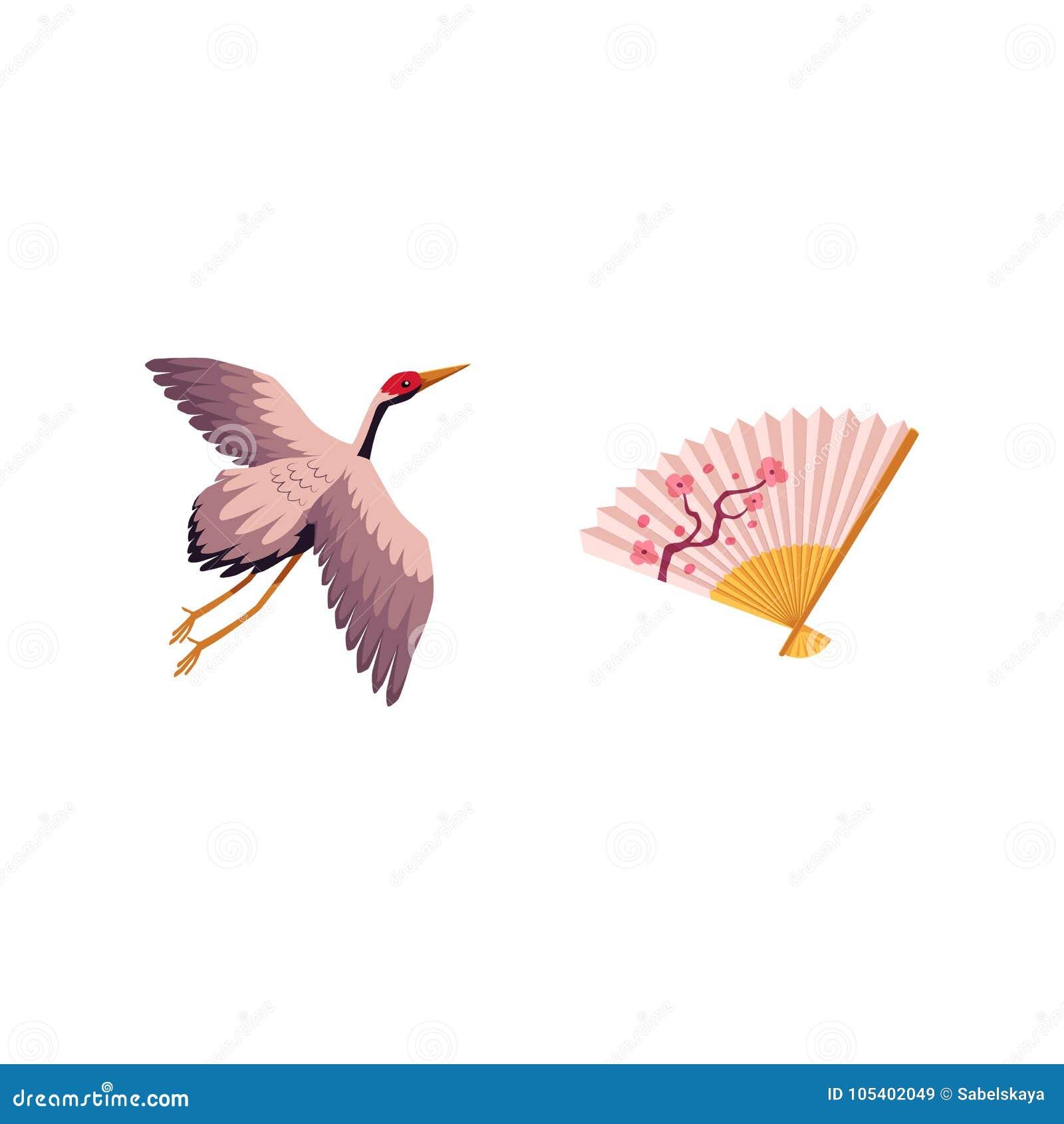 Vector Flat Japanese Symbols Set Stock Vector - Illustration