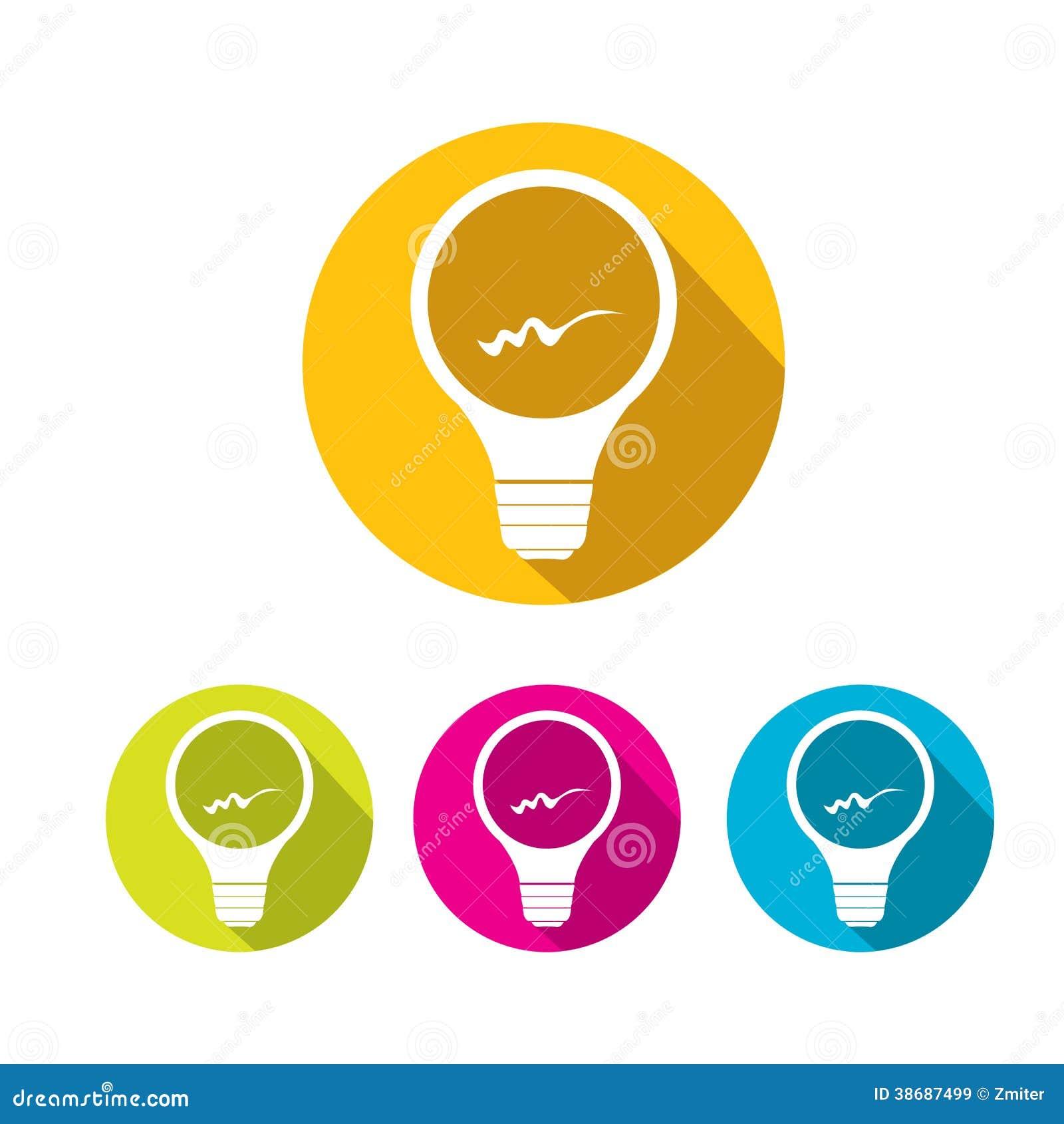 Vector Flat Light Bulb...