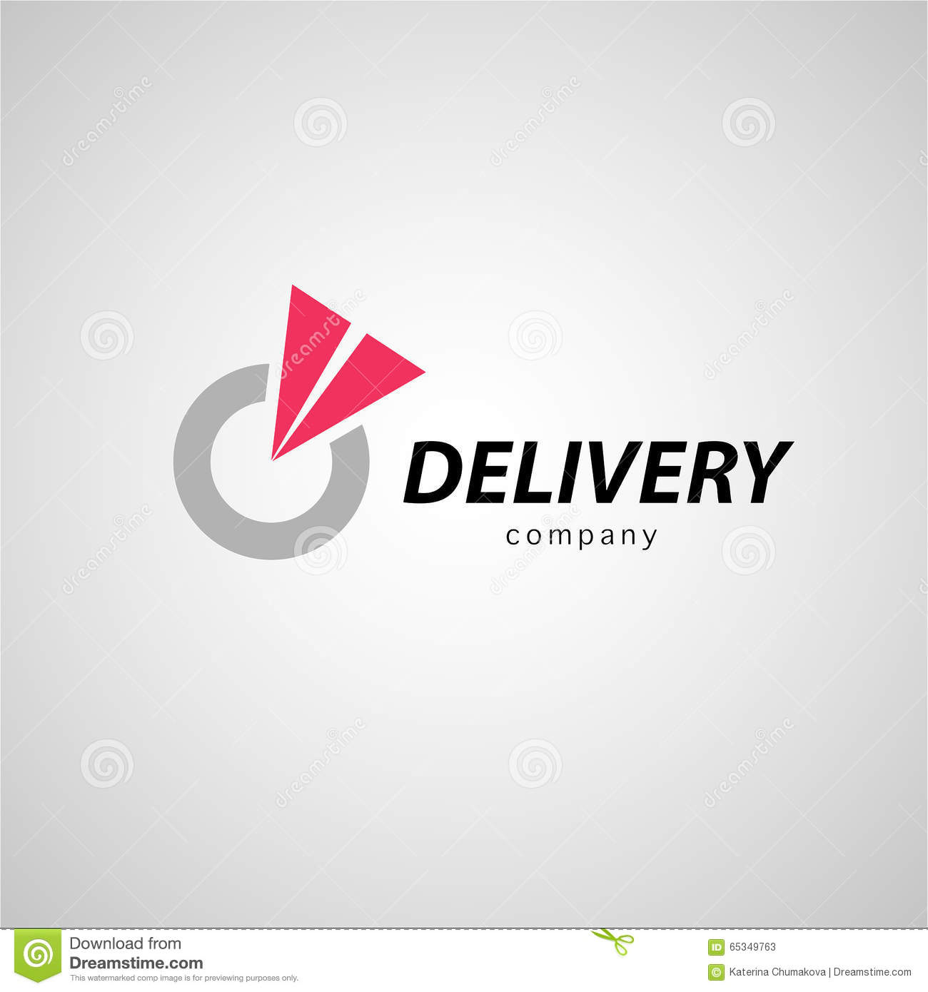 vector flat logo template for logistics and delivery