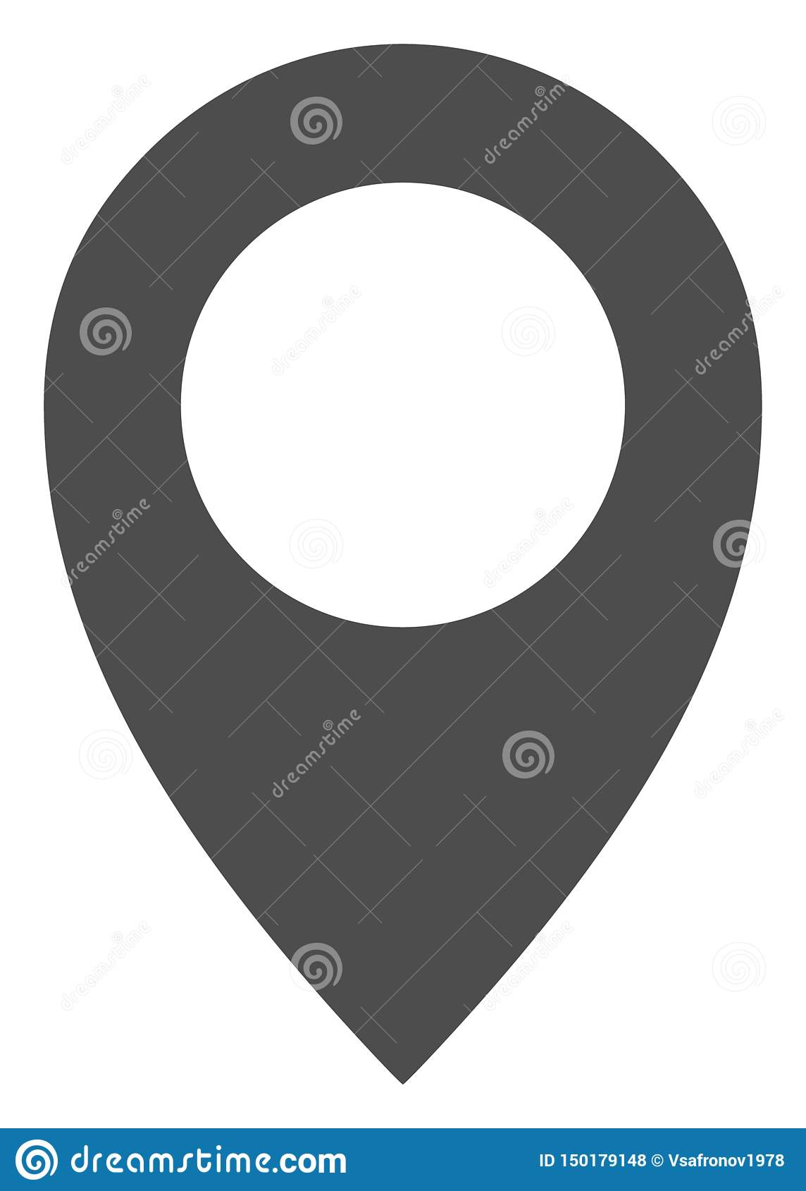 Vector Flat Map Marker Icon