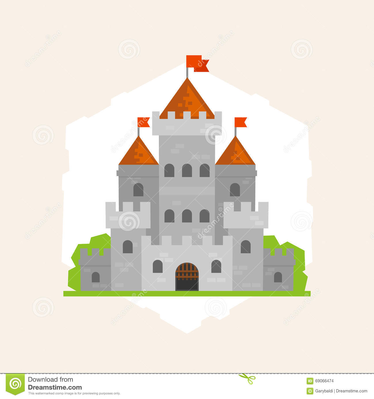 Vector flat medieval castle stock illustration image Design a castle online
