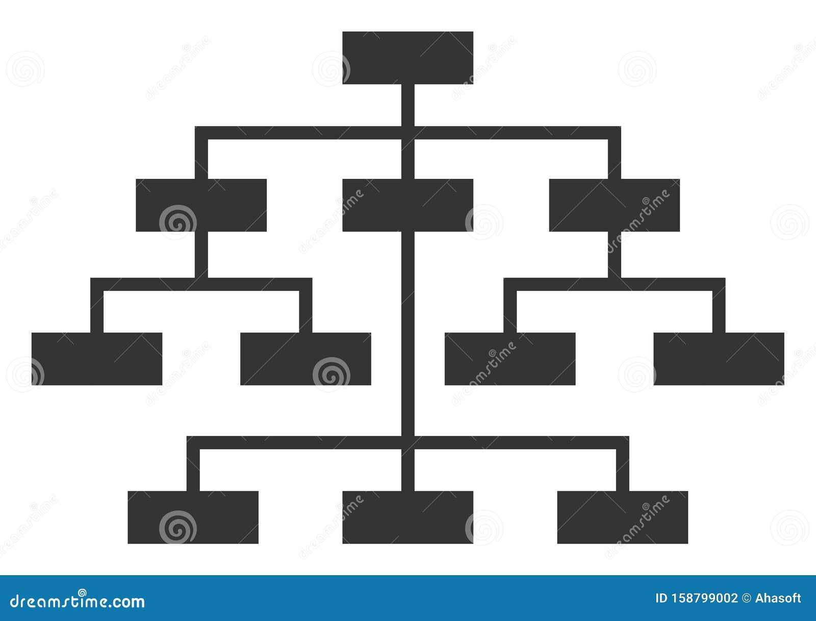 Vector Flat Program Tree Icon