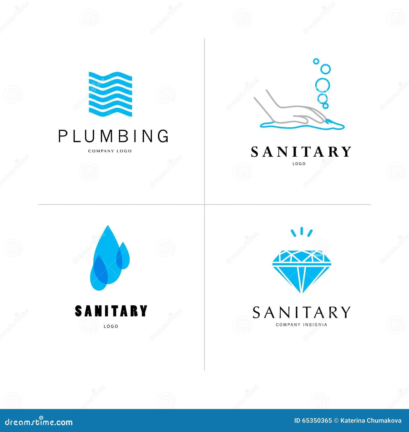 Vector E Sanitary Service : Vector flat sanitary and hygienic company insignia