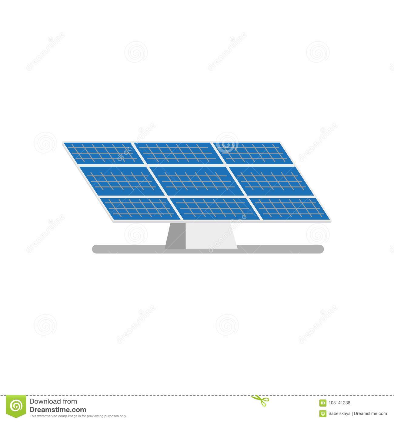 Vector Flat Solar Panel, Power Plant Stock Vector - Illustration of ...