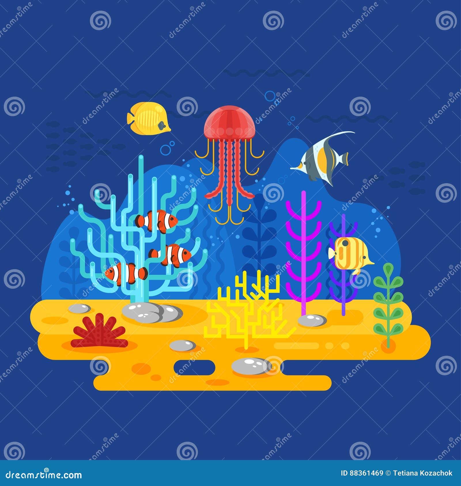 icon reef fish cartoon vector cartoondealercom 89656893