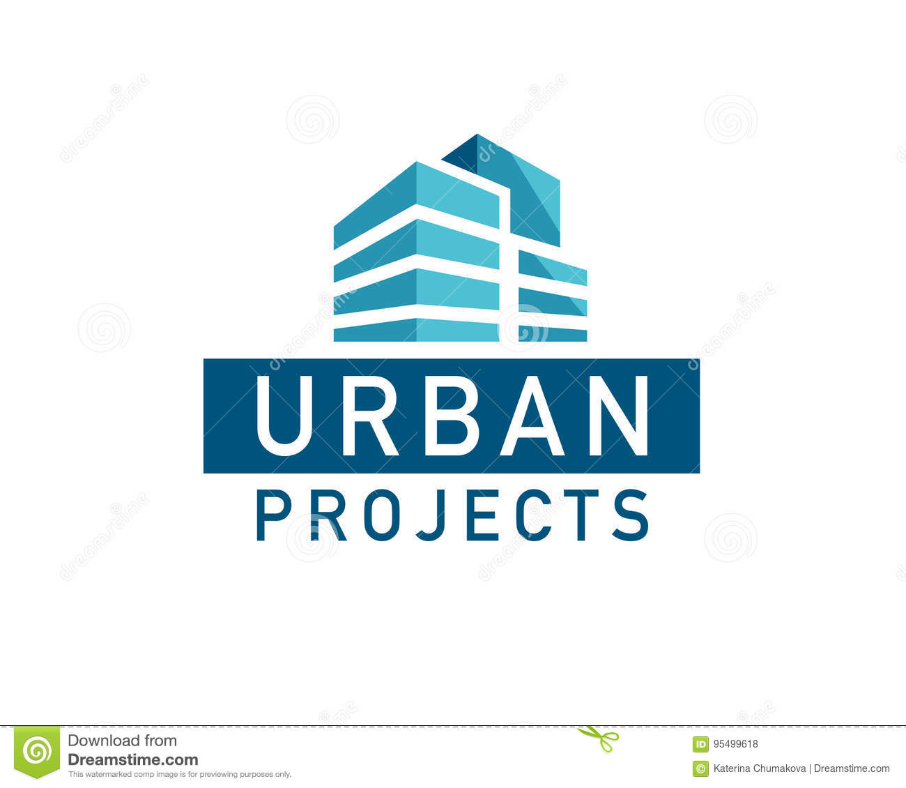 Dreams Construction Company: Vector Flat Urban Construction Company Logo Design