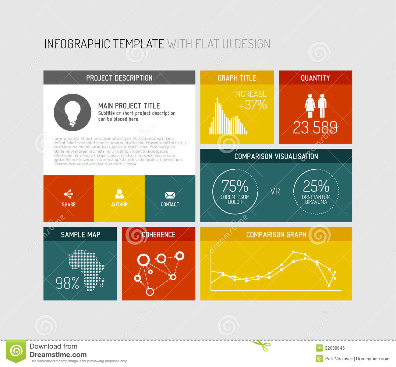 Vector flat user interface infographic stock vector for Free infographic templates