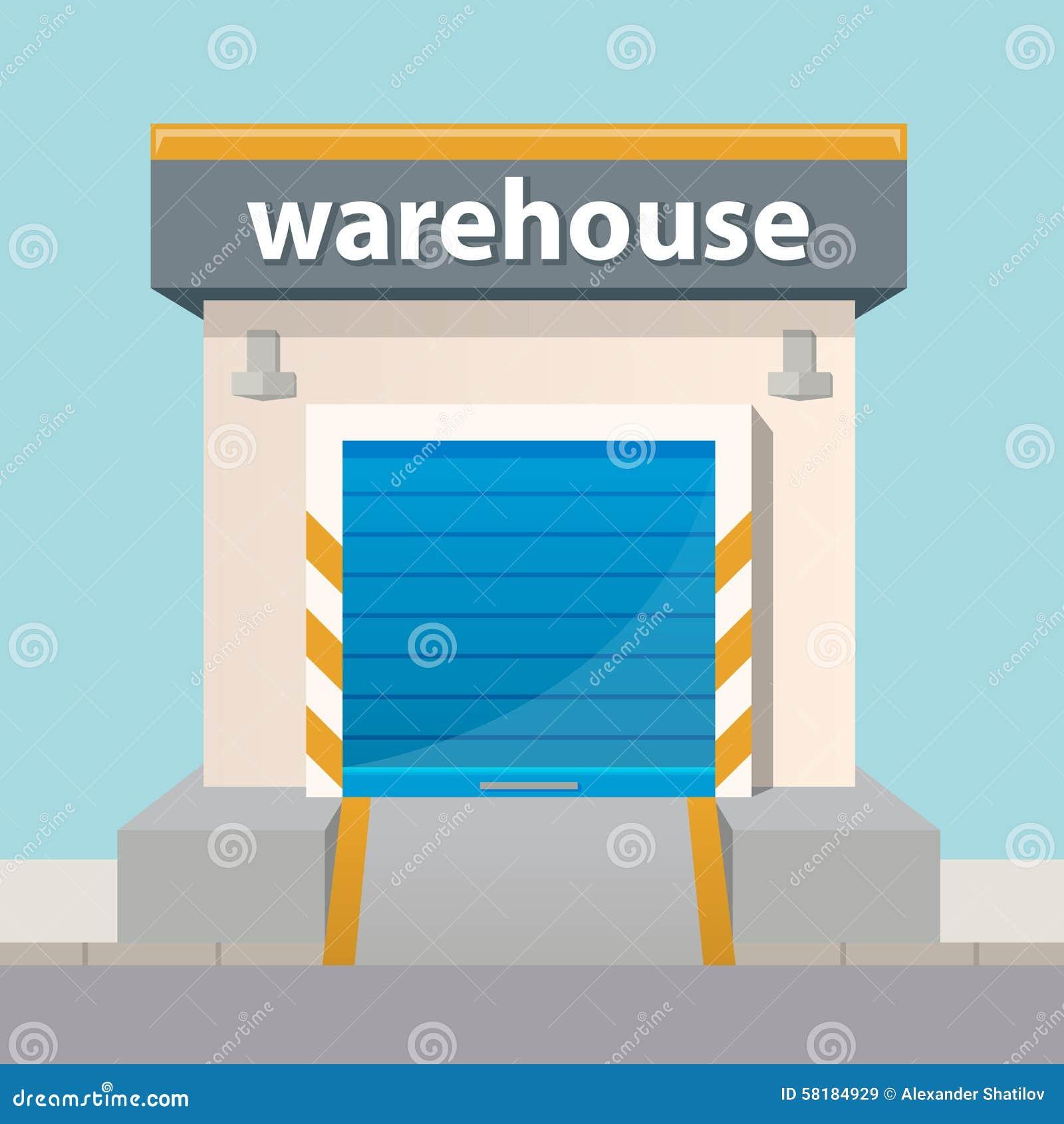 Vector Flat Warehouse ...
