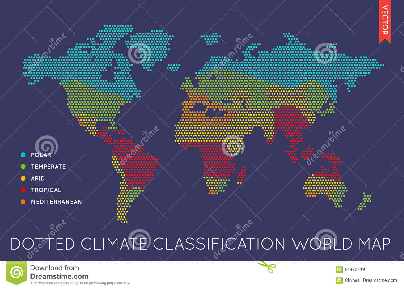 Vector Flat World Map Infographic. Map Of The World. Stock ...