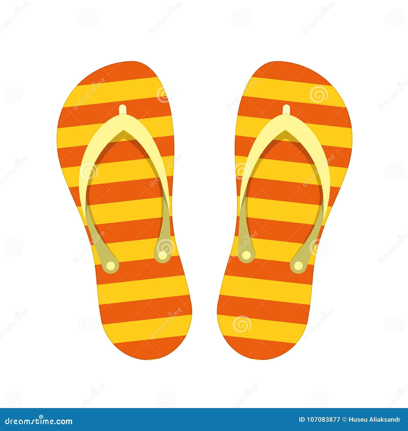 85c37bab43d93 Vector flip flops. stock vector. Illustration of rubber - 107083877