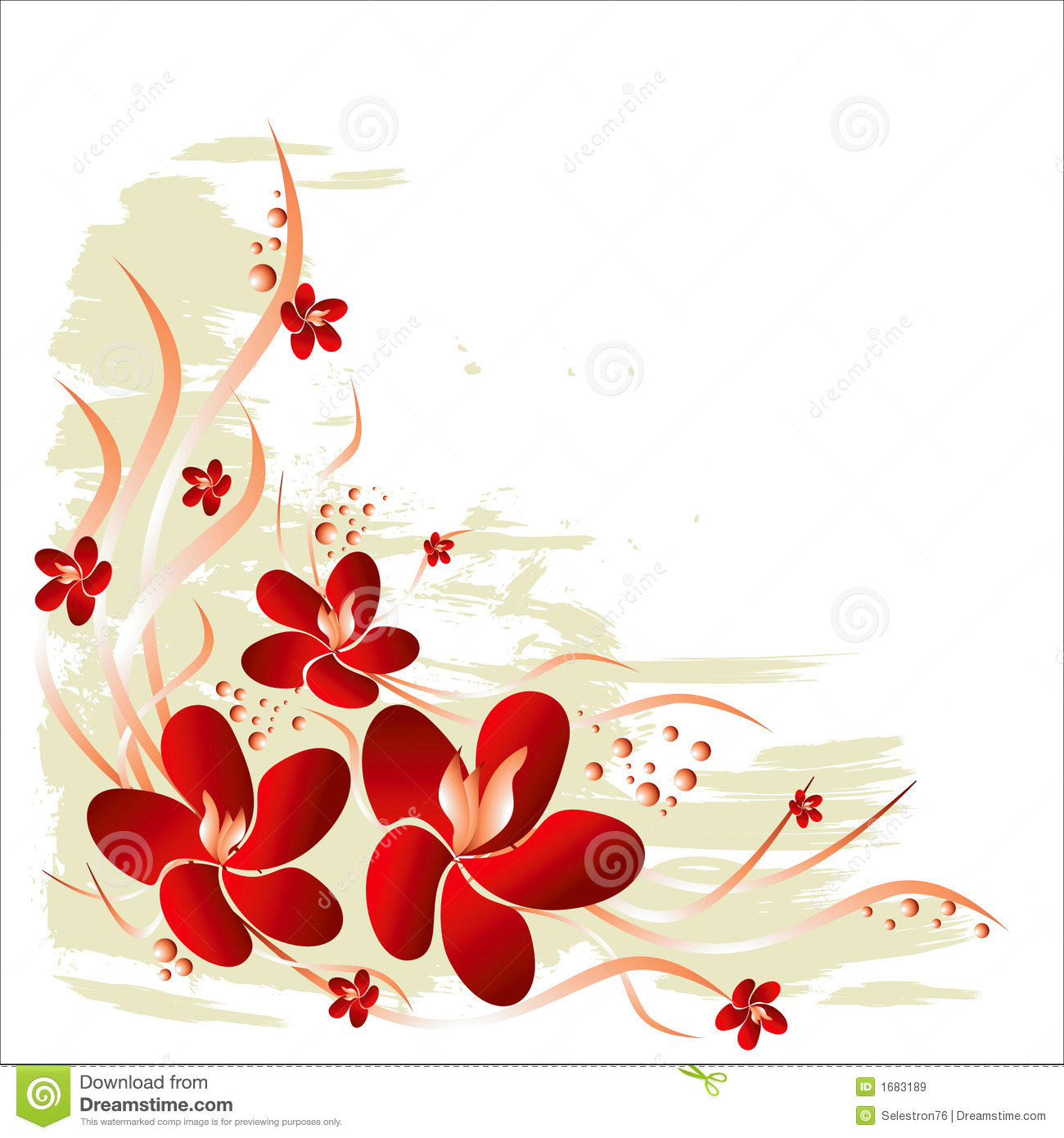 Vector Floral Background Stock Vector. Image Of Decoration