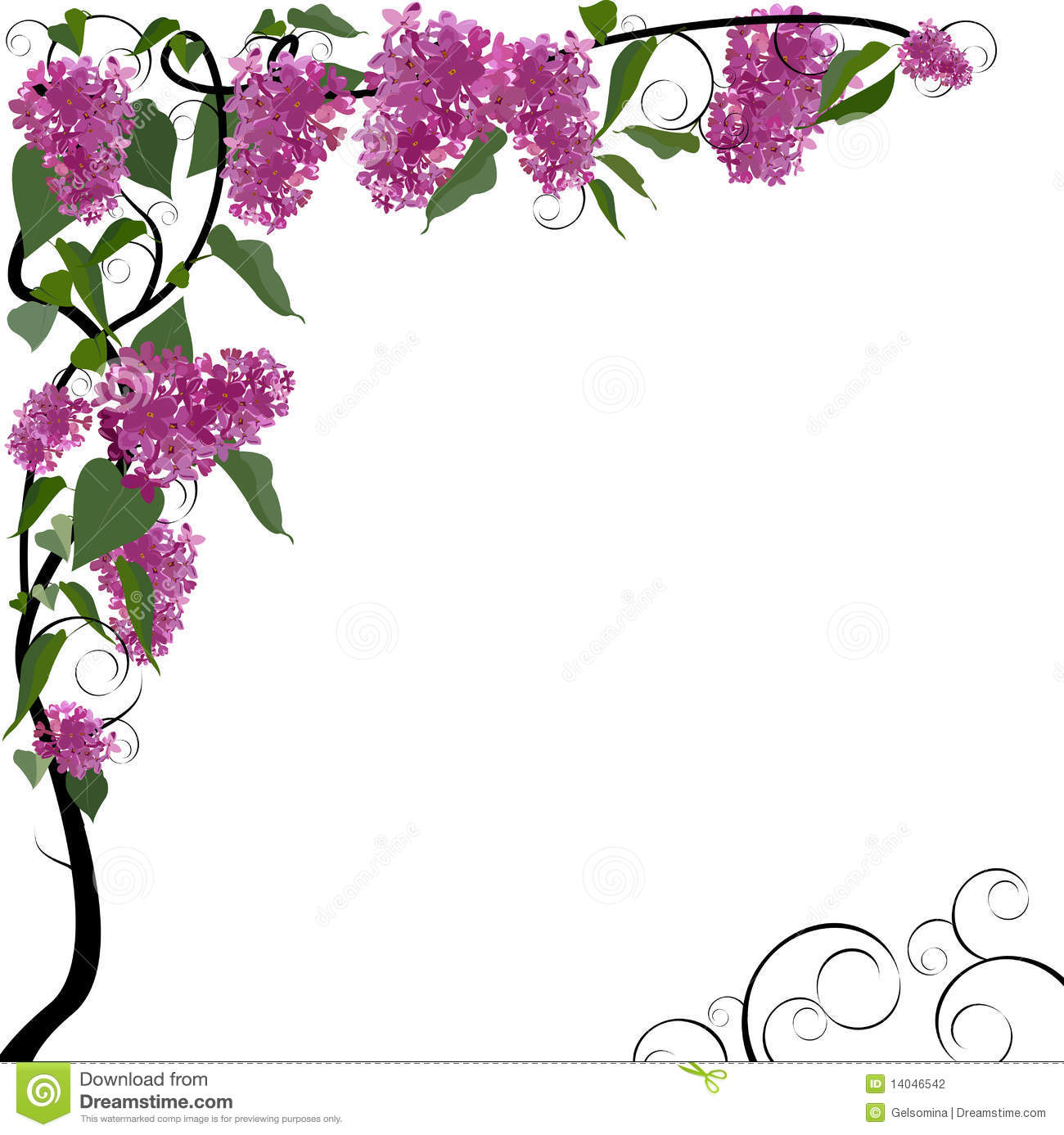 Vector floral border  eps file included Vector Floral Border
