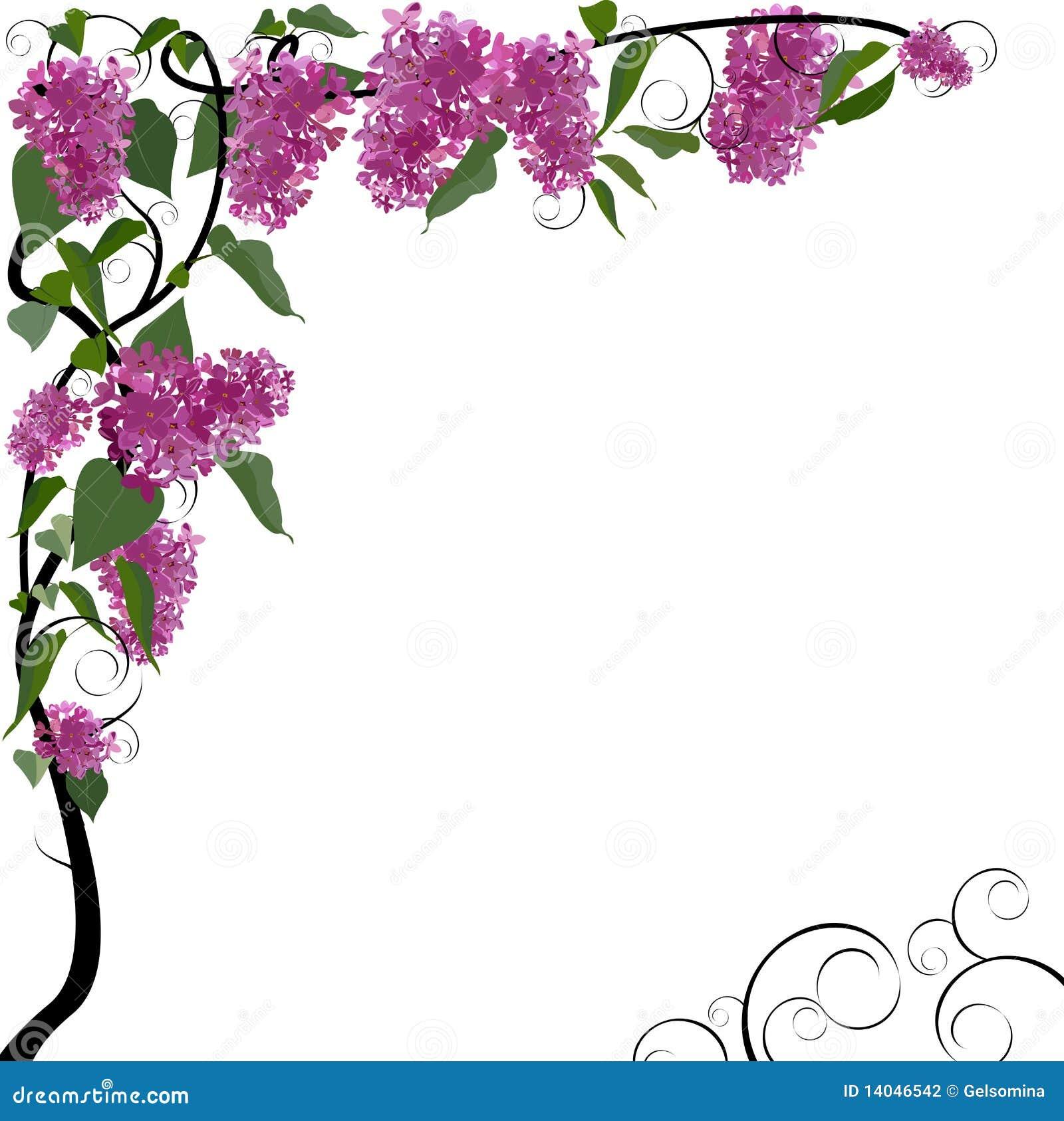 vector floral border stock vector illustration of abstract 14046542 rh dreamstime com floral border vector vintage flower border vector free download