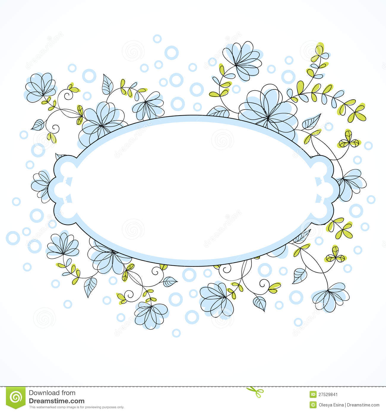 Vector floral border stock vector illustration of leaf 27529841 stopboris Images