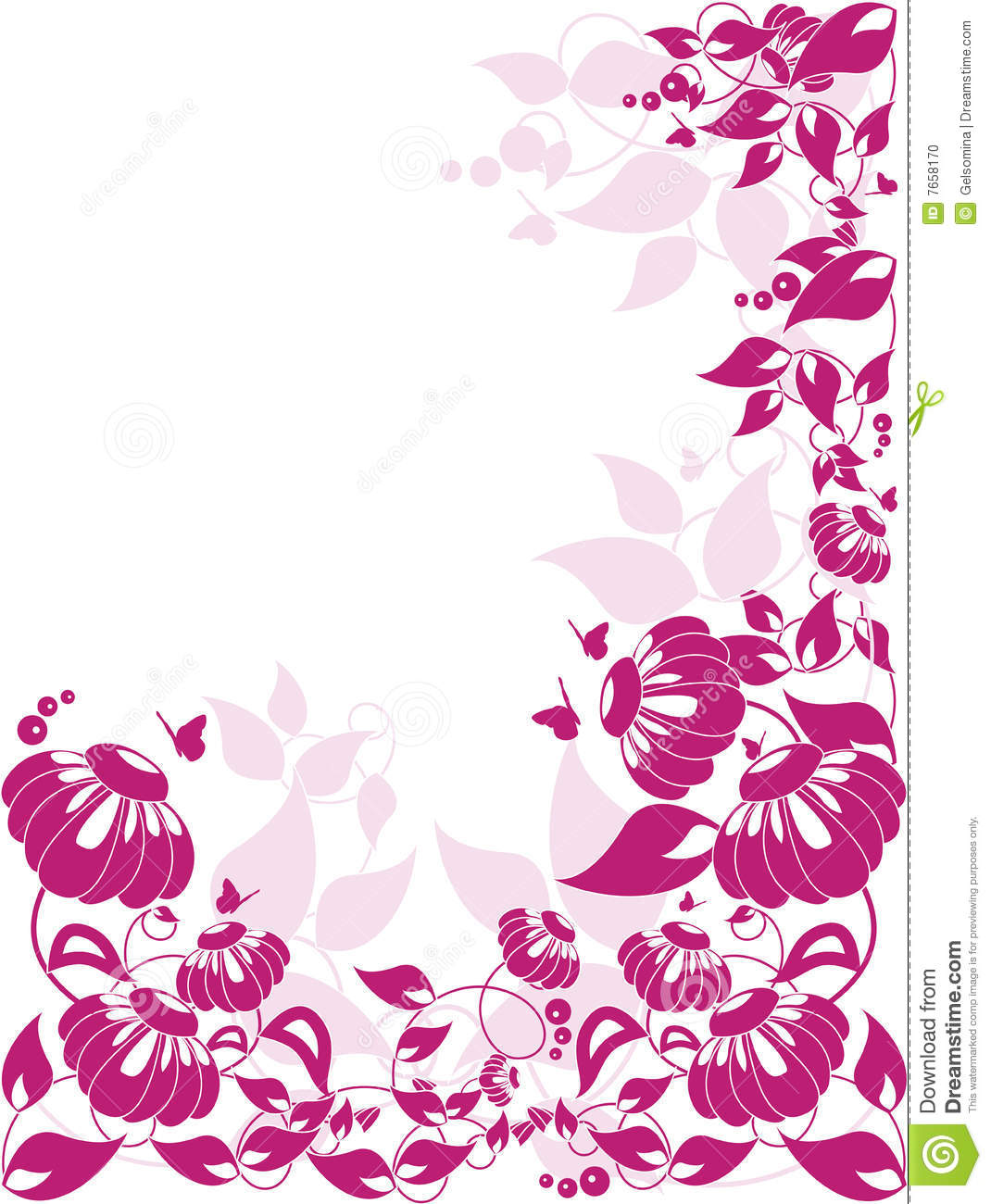Vector floral border  eps included Vector Floral Border