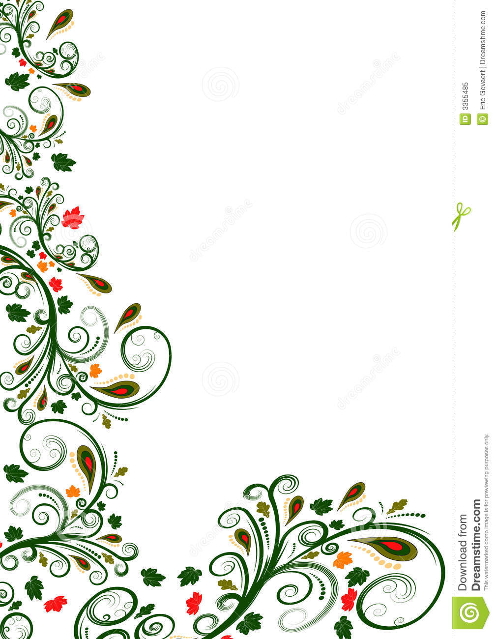 Royalty Free Stock Photo  Vector floral border designVector Floral Border