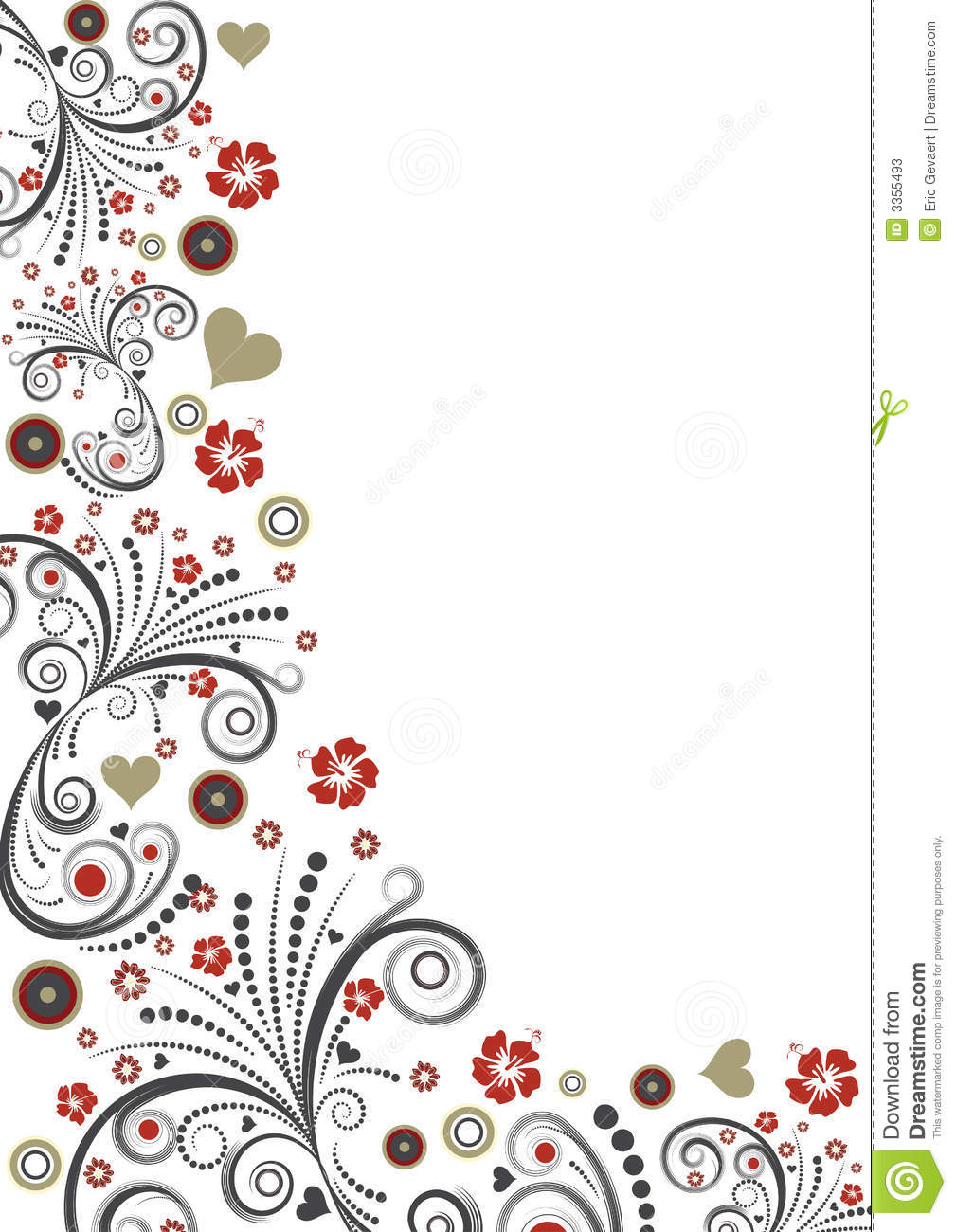 Vector floral border design