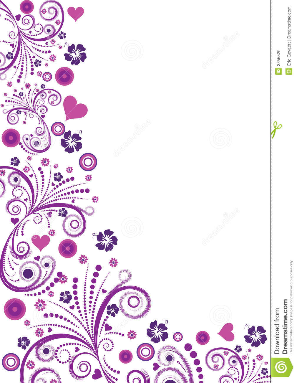 Royalty Free Stock Images  Vector floral border designVector Floral Border
