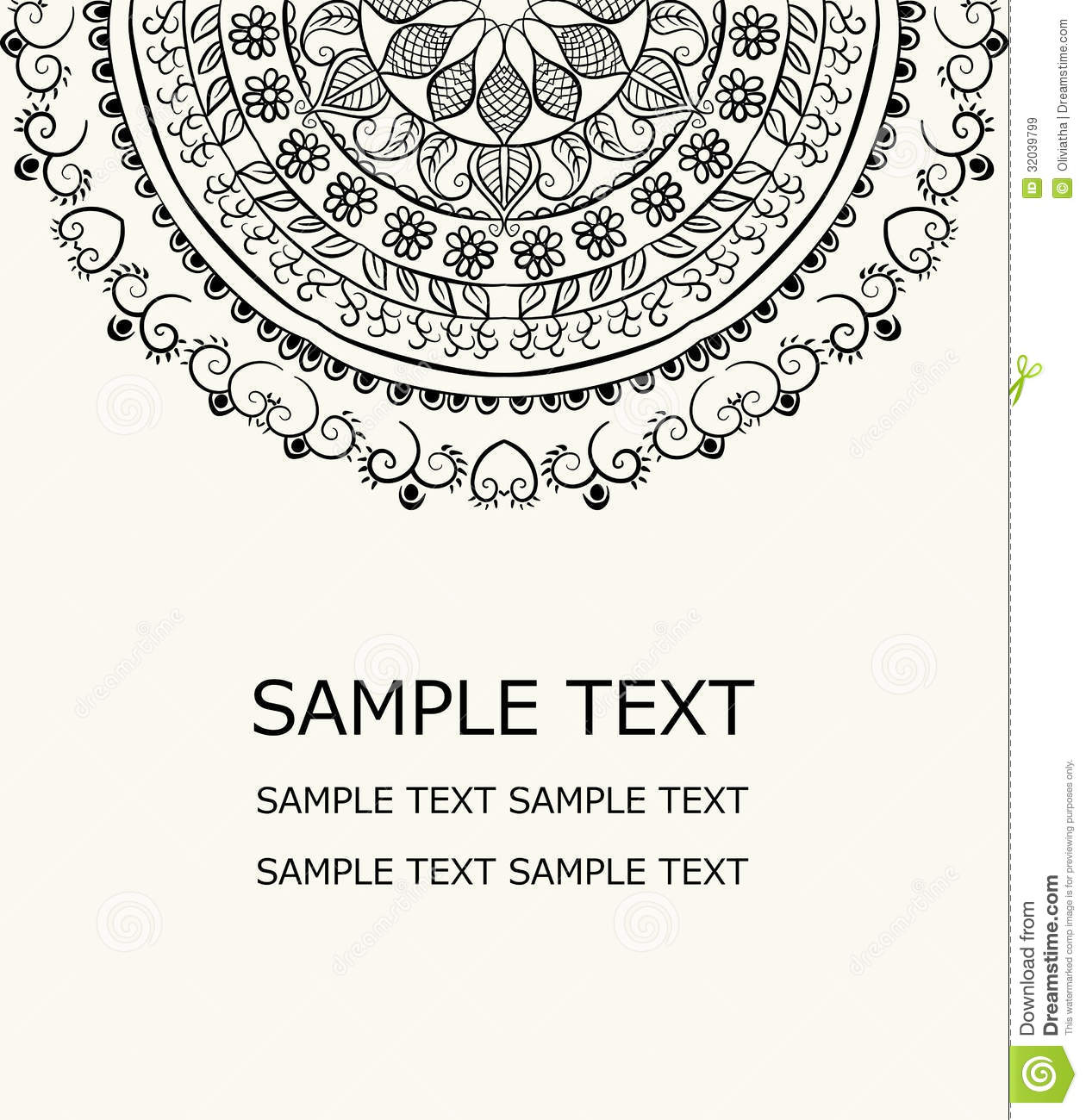 Vector Floral Card Royalty Free Stock Images - Image: 32039799