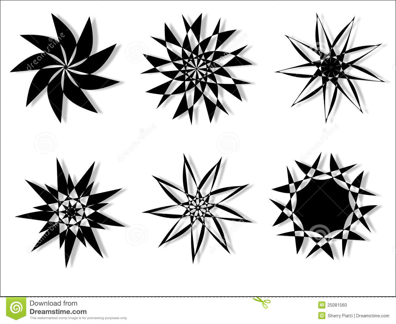 Vector Floral Circular Design Stock Photo - Image: 25081560
