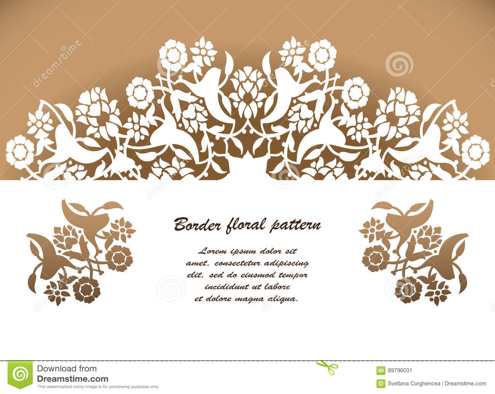 Vector Floral Cortado Laser Del Modelo Del Ornamento Del Arabesque ...