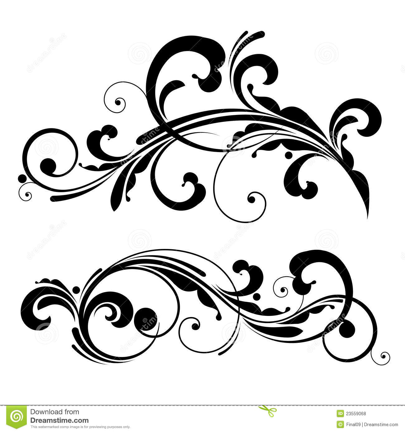 Vector Floral Design Element Royalty Free Stock Photo
