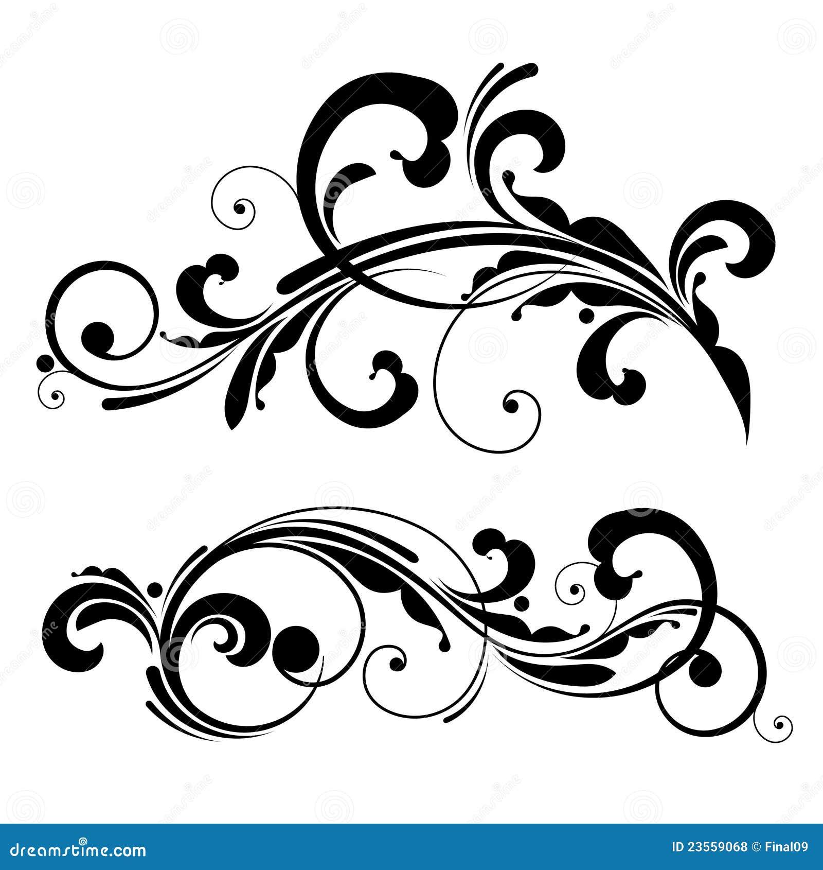 Line Art Design Free Download : Vector floral design element stock illustration